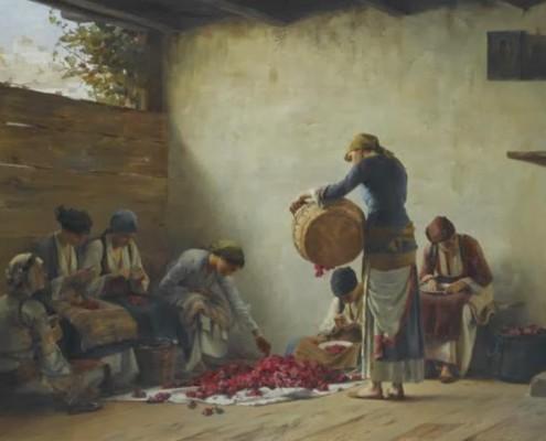 Ράλλης Θ. - Γυναίκες ετοιμάζουν γλυκό τριαντάφυλλο